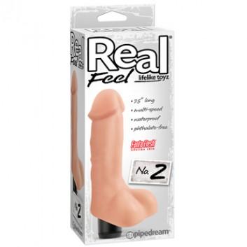 Реалистичный мультискоростной вибратор Pipedream Real Feel № 2