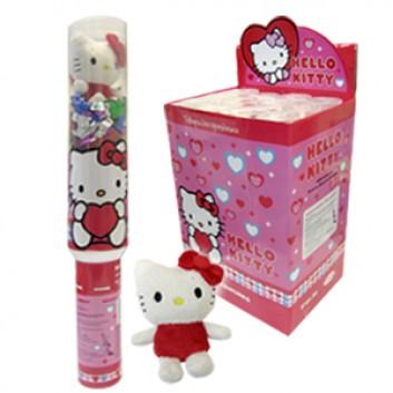 Пневмохлопушка Hello Kitty 40см: бумага/фольга/игрушки